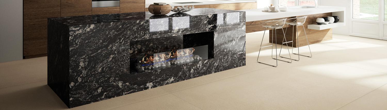 Materiales de mármol y granito para superficies de encimeras de cocina y baño